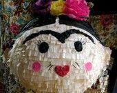 Cute for a mexican party...Fiesta Frida Pinata-