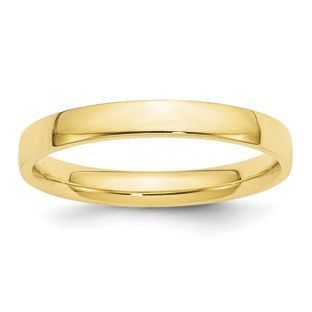 10K and 14K White and Yellow Gold 3mm Lightweight Comfort Fit Wedding Ring Collection