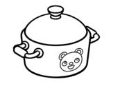 Dibujo De Una Olla De Cocina Para Colorear Ollas Colores Colorear Online