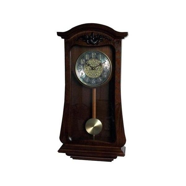 Lnc Vintage Decor Wood Wall Pendulum Clock Hourly Westminster Chime 247 Liked On Polyvore Featuring Home Home Dec Pendulum Clock Clock Wood Wall Clock