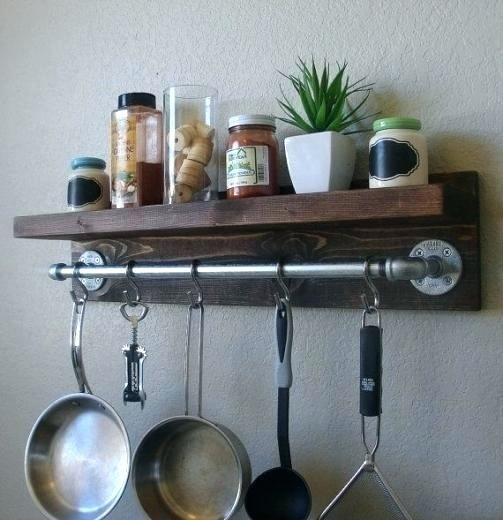 Woodworking Plans For Kitchen Spice Rack: Image Result For Hanging Kitchen Racks For Pots And Pans