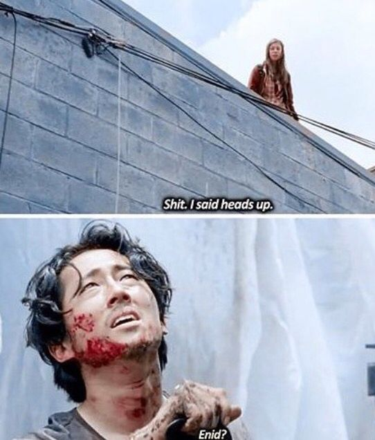 Enid and Glenn. The Walking Dead Season 6 Episode 7
