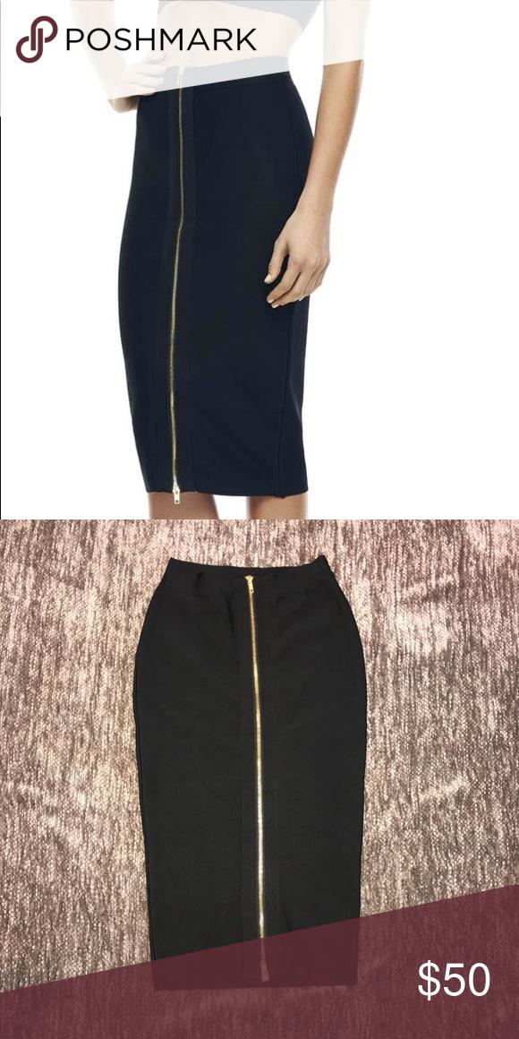 Misha collection zip front skirt Beautiful Misha collection Alecia