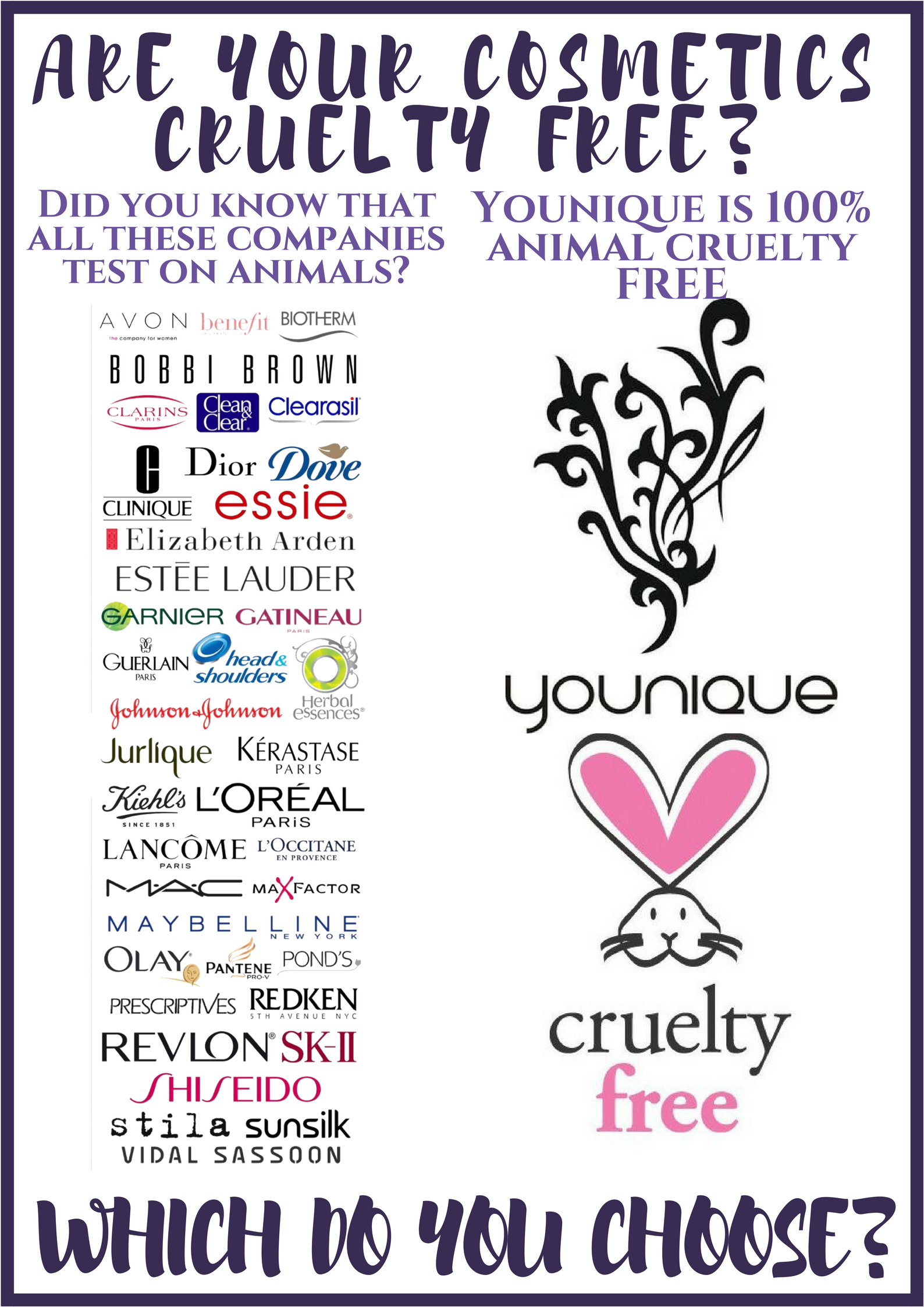 Are Yours Cosmetics Tested On Animals Younique Is 100 Animal Cruelty Free Younique Younique Makeup Younique Beauty