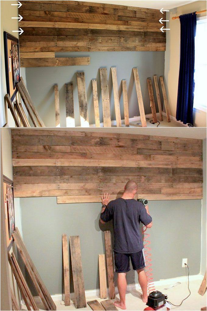 diy pallet wall 25 best accent wood wall tutorials diy on pallet wall id=48762