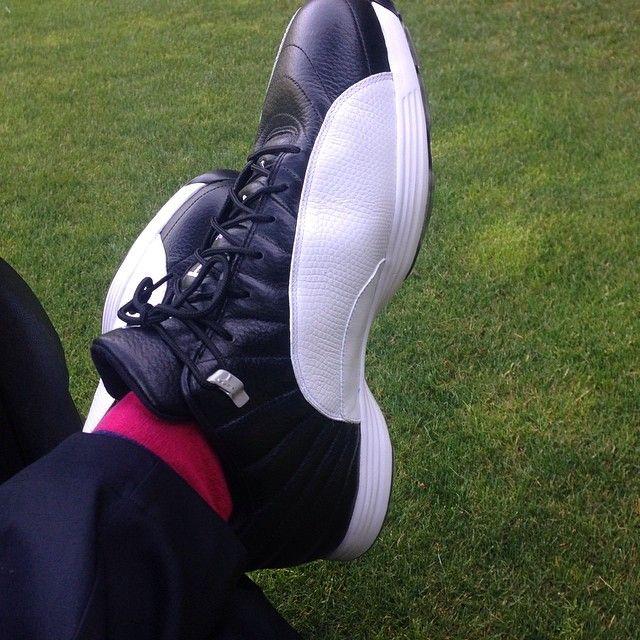 Air Jordan XII 12 Playoff Golf Shoes  ff32d0eb60f