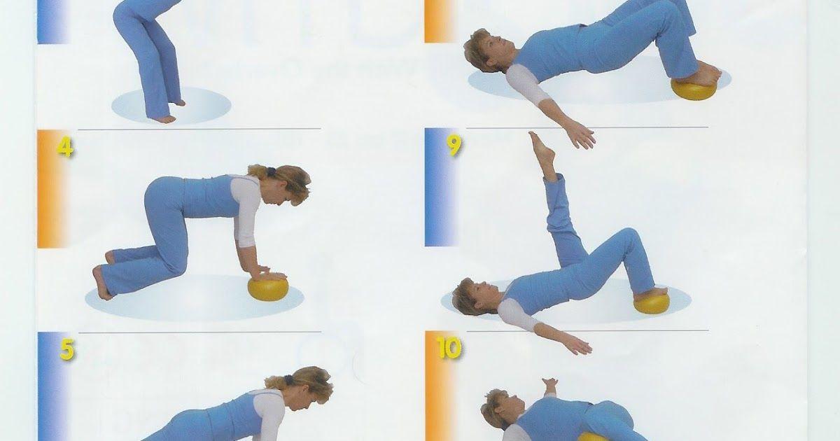 Tabla de ejercicios con pelota pequeña o CHIBALL. La tabla consta de 21  ejercicios que podrás ejecutar sin problema desde casa 2695aeb93f9e