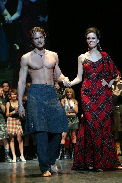 Plaid dress and Marcus Schenkenberg