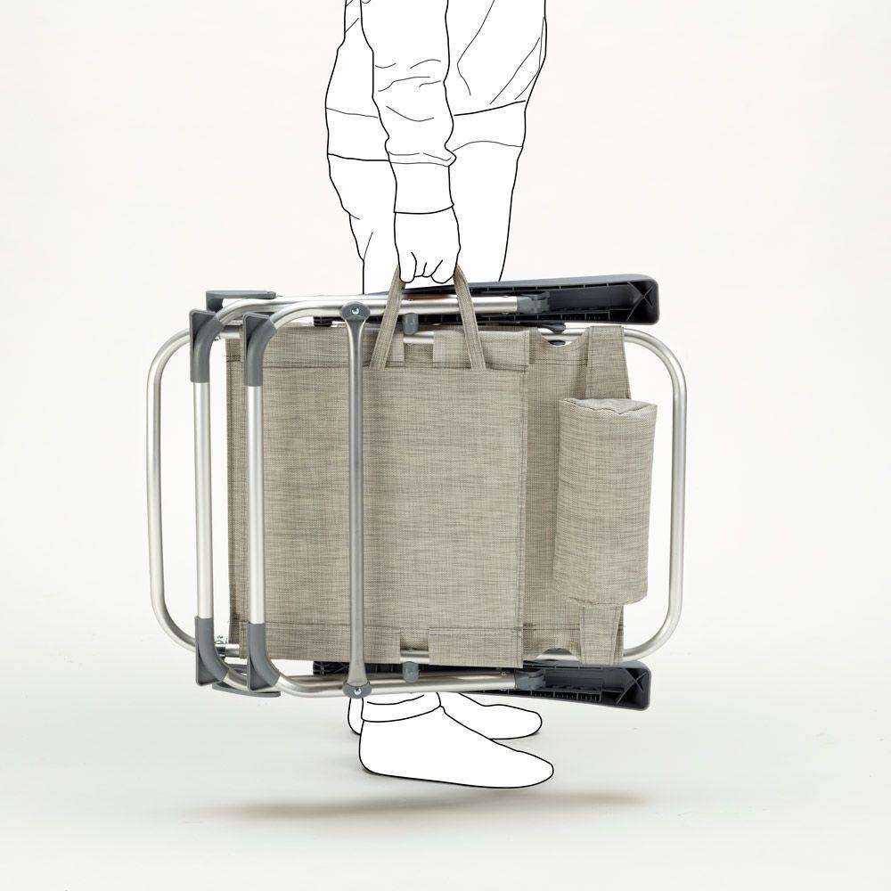 Sedie Sdraio Pieghevoli Alluminio.Sedia Sdraio Spiaggina Con Braccioli Pieghevole Design Gargano