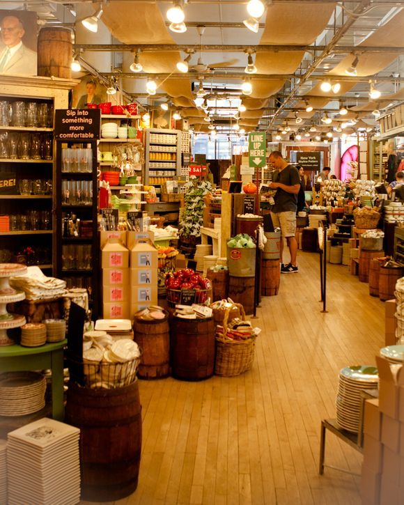 Houseware Store: Fabric Panels On The Ceiling -- Fishs Eddy (NY) Love This