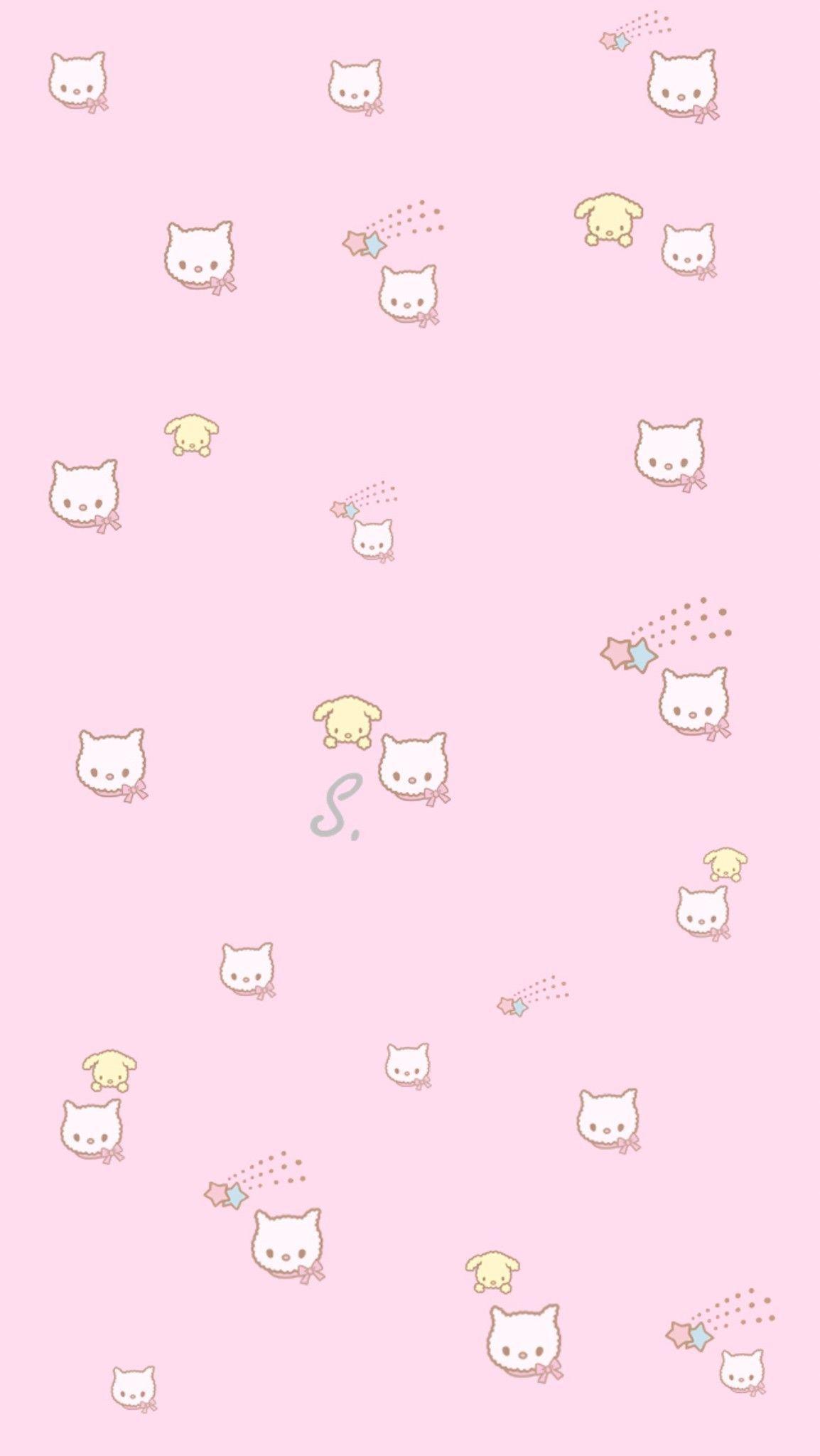 Cat Wallpaper Aesthetic Pink Cat Wallpaper Aesthetic In 2020 Simplistic Wallpaper Cute Patterns Wallpaper Kawaii Wallpaper