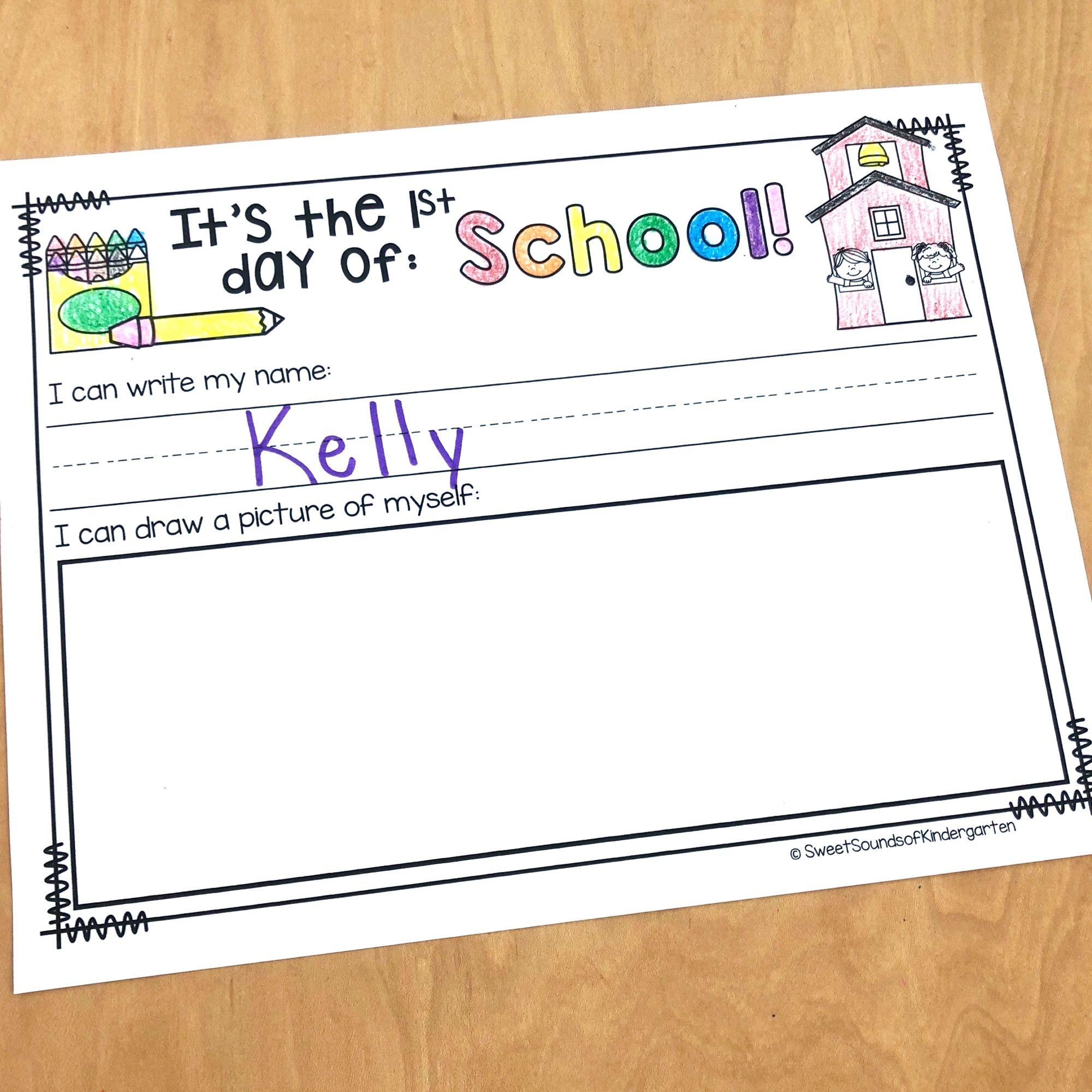 Kindergarten Back To School Activities And Crafts