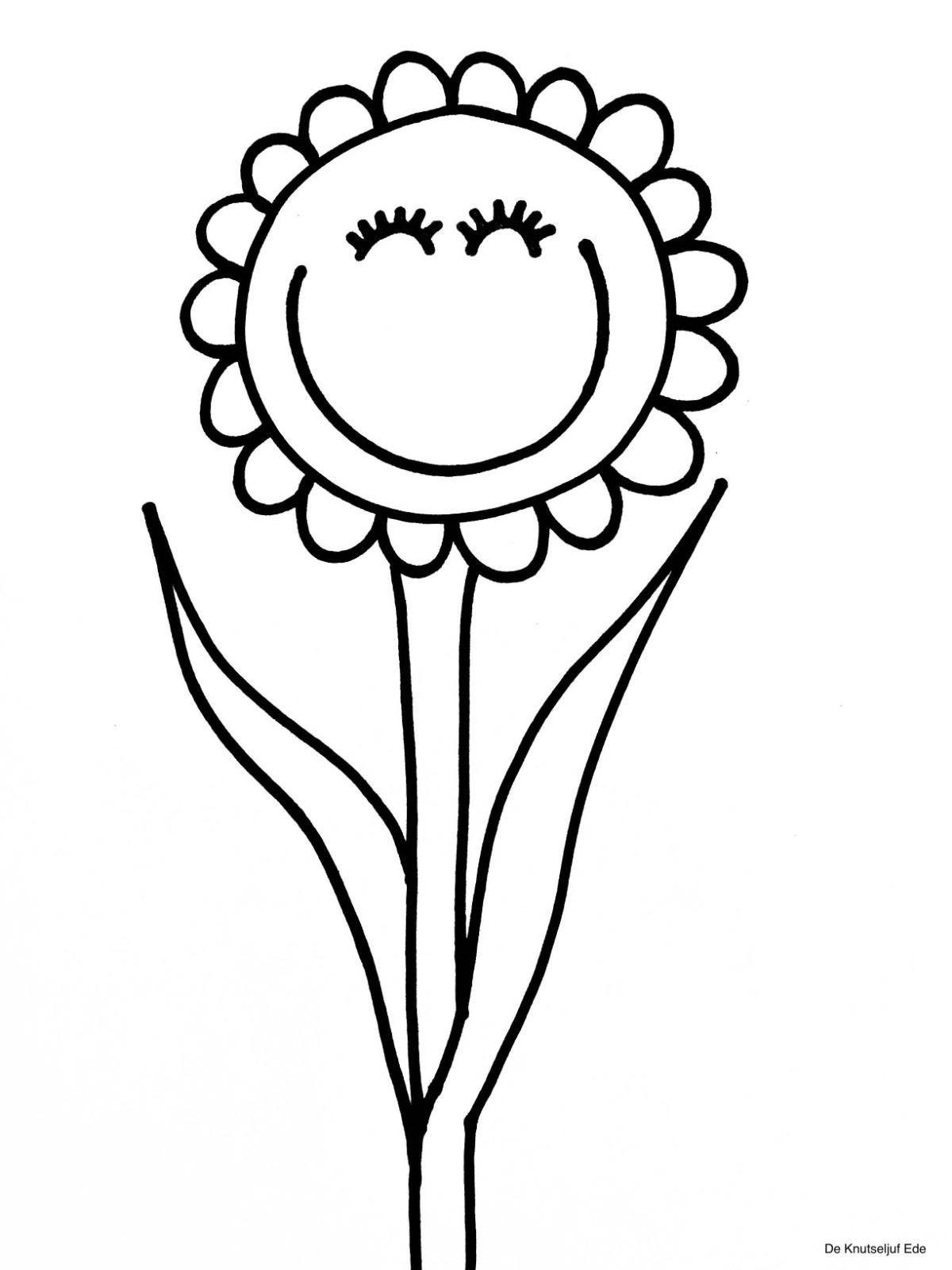 Kleurplaten Bloemen Bloemen Knutselen Kleurplaat Kleurplaten De Knutseljuf Ede Bloem Kleurplaten Kleurplaten Bloemen