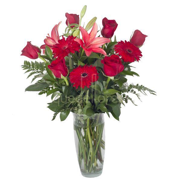 Frases Para San Valentin Jarron De Flores Rojas Poema De Amor