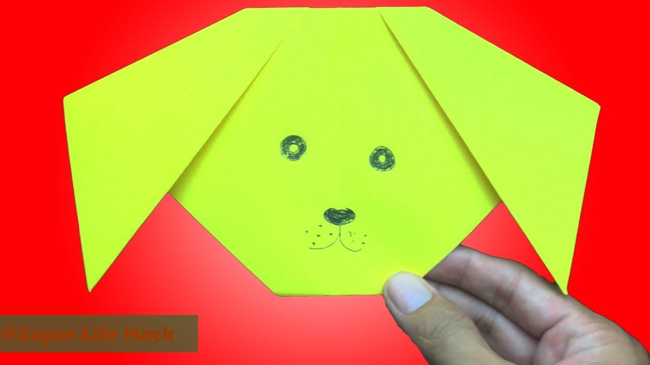 How to make origami dog face easy instructions of paper dog face how to make origami dog face easy instructions of paper dog face jeuxipadfo Image collections