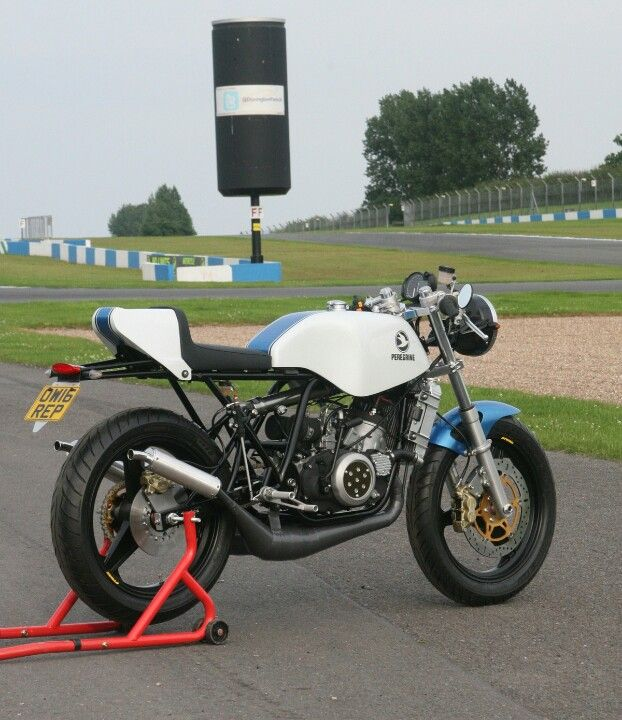 Brand New Peregrine A Copy Of The Classic Two Stroke Yamaha Ow16 With A Tipped Forward Riding Position And Strip Japanese Bikes Yamaha Bikes Cafe Racer Build