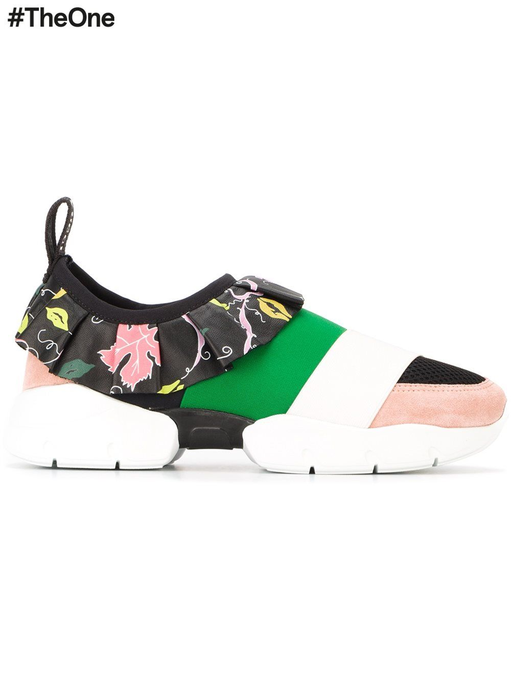 1b960a3adc1d Emilio Pucci ruffled detail sneakers   pop   Pinterest   Chaussure