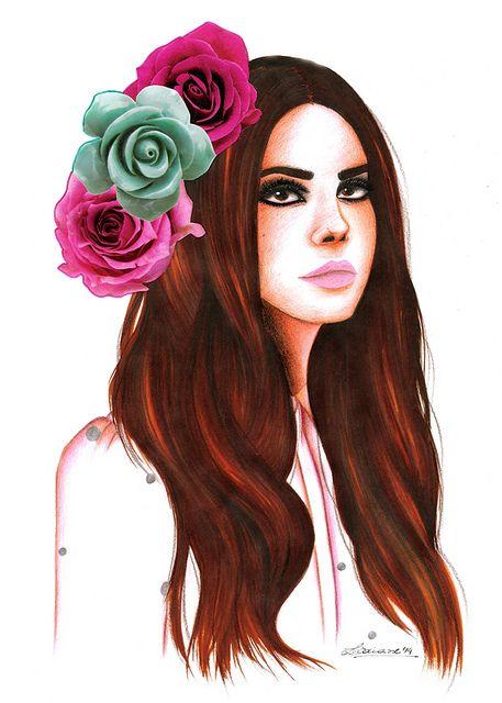 Lana Del Rey, illustration by Lidiane Dutra