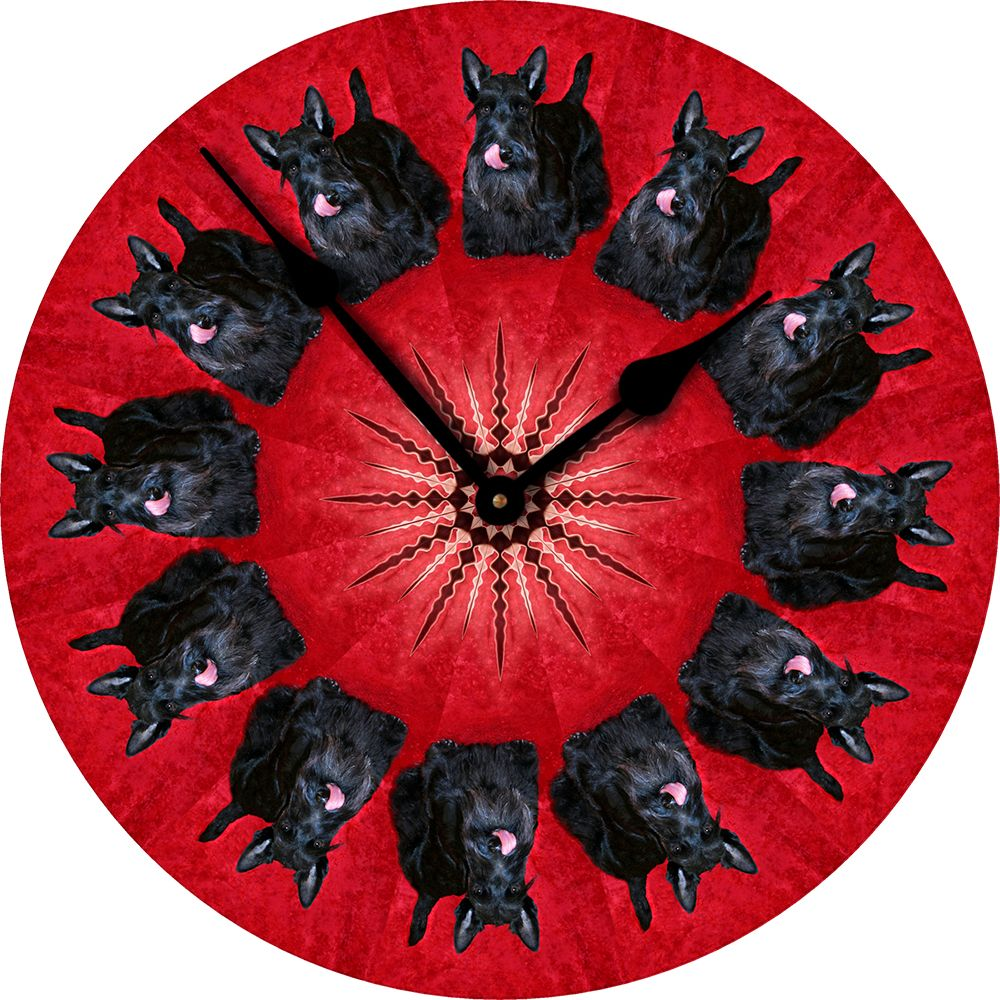 Scottish Terrier Dog Wall Clock