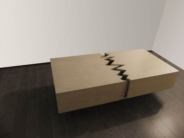 The San Andreas coffee table, by Ricardo Garza Marcos. Any Californian will surely appreciate this. #sf #seismology #industrial_design