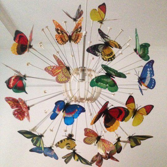 Add faux butterflies for a botanical garden feel