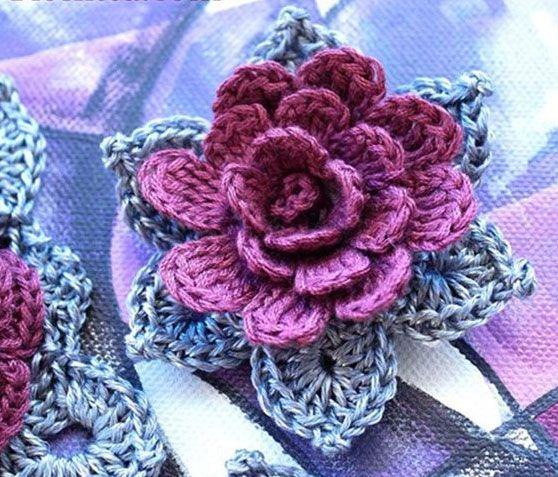 3d Crochet Flower Pattern More Patterns Like This Pinteres