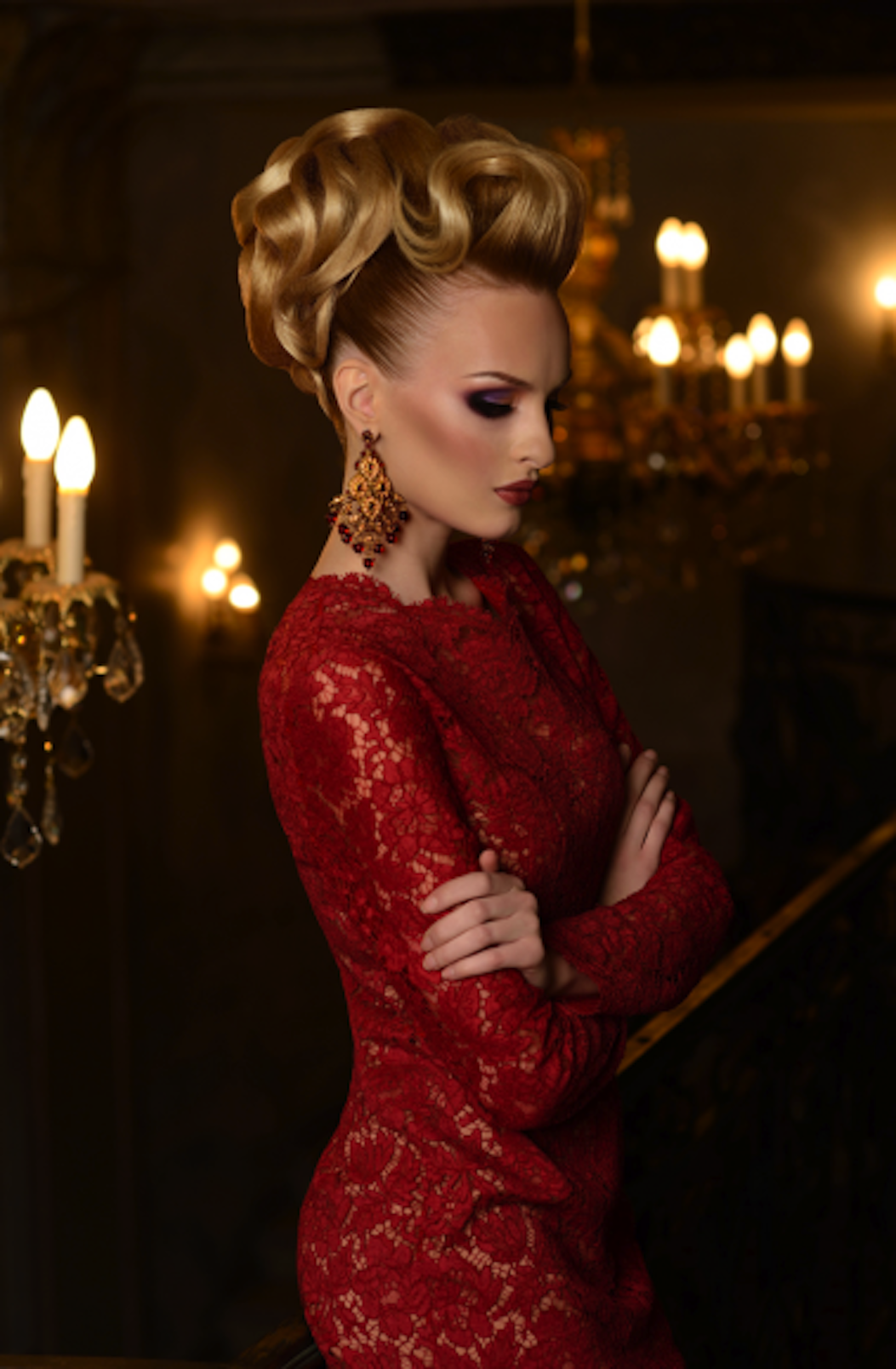 most popular romantic updo on our social media pages by ruslan