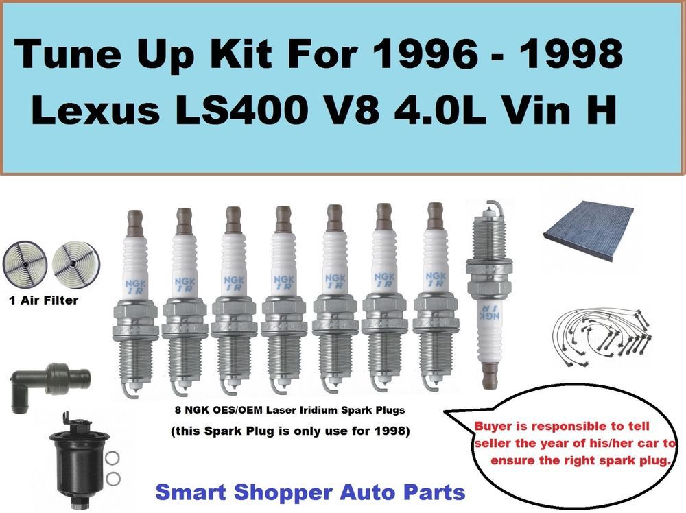 Tune up kit for 98 lexus ls400 v8 40l spark plug wire set spark tune up kit for 98 lexus ls400 v8 40l spark plug wire set spark plug filter sciox Gallery