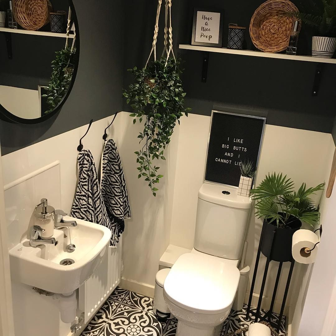Small Bathroomdesign Ideas: Add A Touch Of Elegance To Your Tiny Cloakroom By Painting