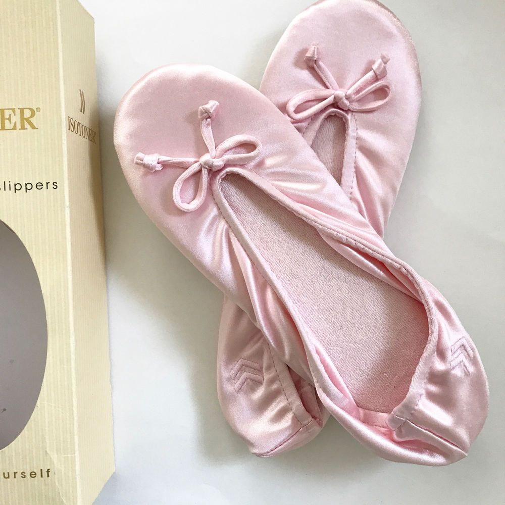 c07fdeb6f8c8d3 Isotoner  Pink Classic  Satin  Ballerina  Slippers XL 9.5 -10.5. 41. Box is  Damaged  ISOTONER  Casual