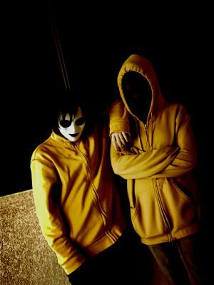 Masky and Hoodie cosplay