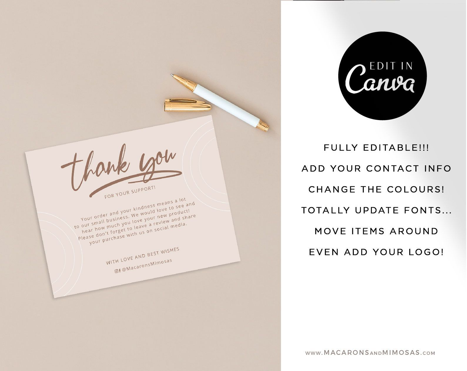 Violet Thank You Cards Macarons And Mimosas Business Card Template Design Thank You Cards Thank You Card Template