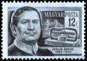 Znaczek: Ányos Jedlik (1800-1895) physicist and naturalist (Węgry) (Scientists) Mi:HU 1400,Sn:HU 1100,Yt:HU 1142,AFA:HU 1375