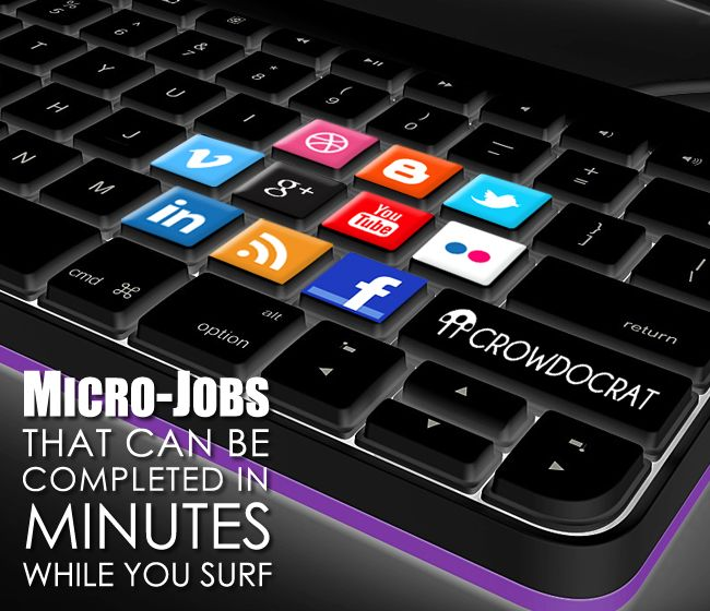 Micro-jobs that can be completed in minutes while you surf.