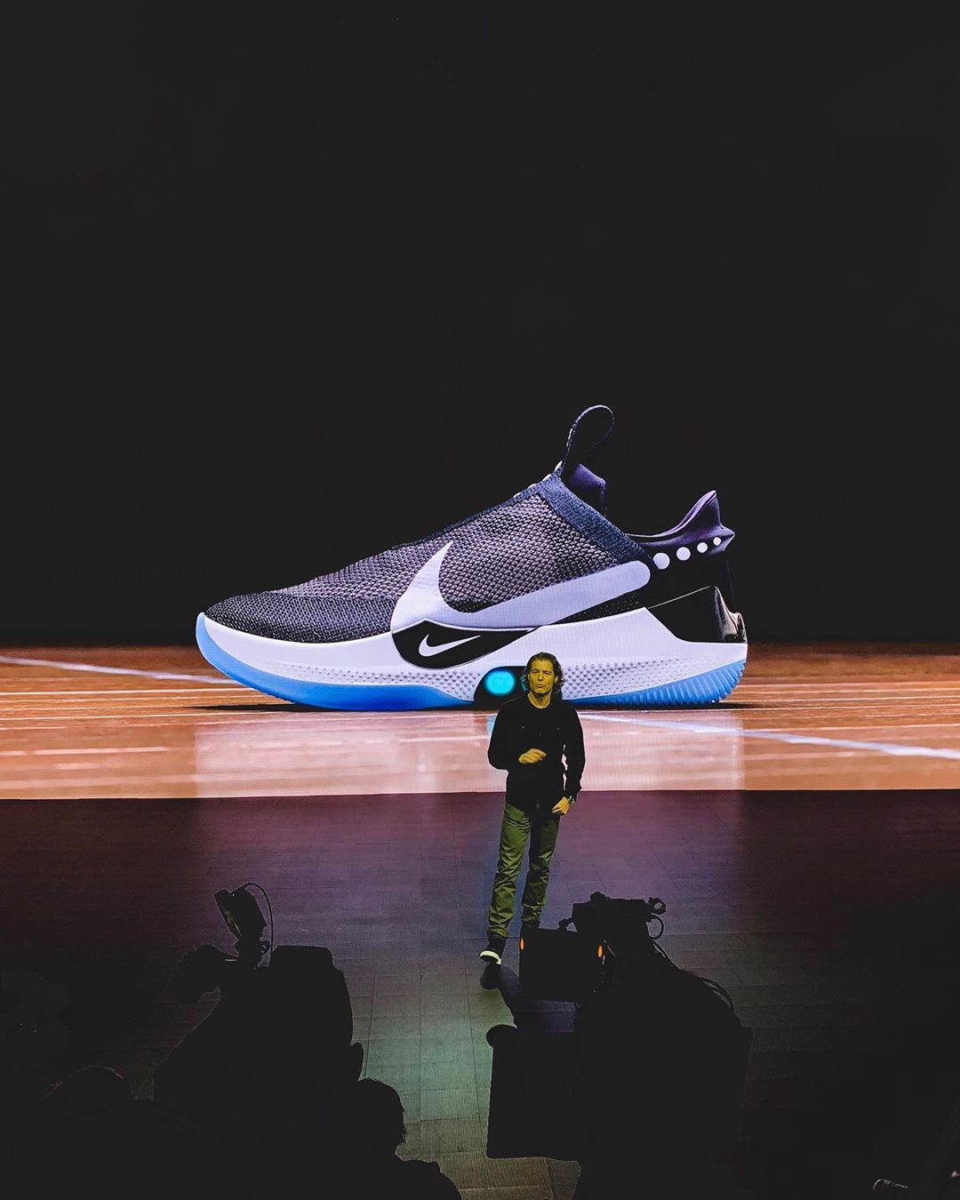 155a125f5f6c  nike has officially unveiled the HyperAdapt BB. Swipe left for an official  look and let us know what you think below.