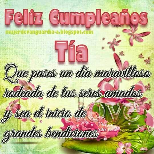 Feliz Cumpleaños Tía Happy Birthdayfelizcumpleaños Happy