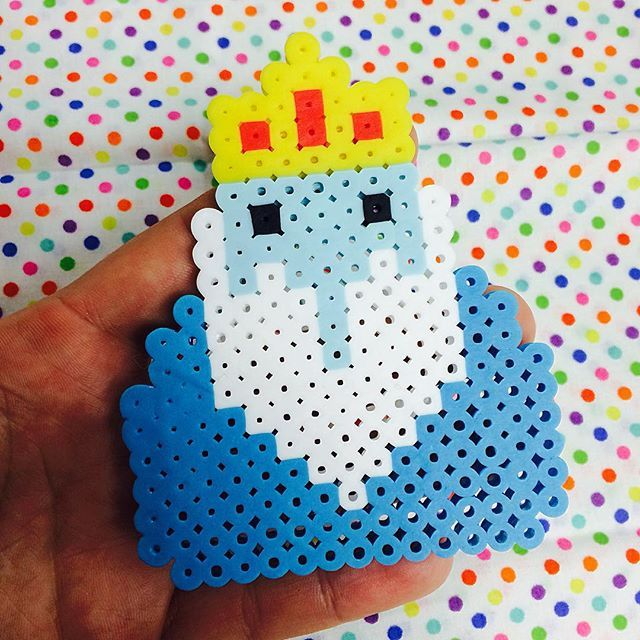 Ice King - Adventure Time perler beads by happy.art.happy.heart ...