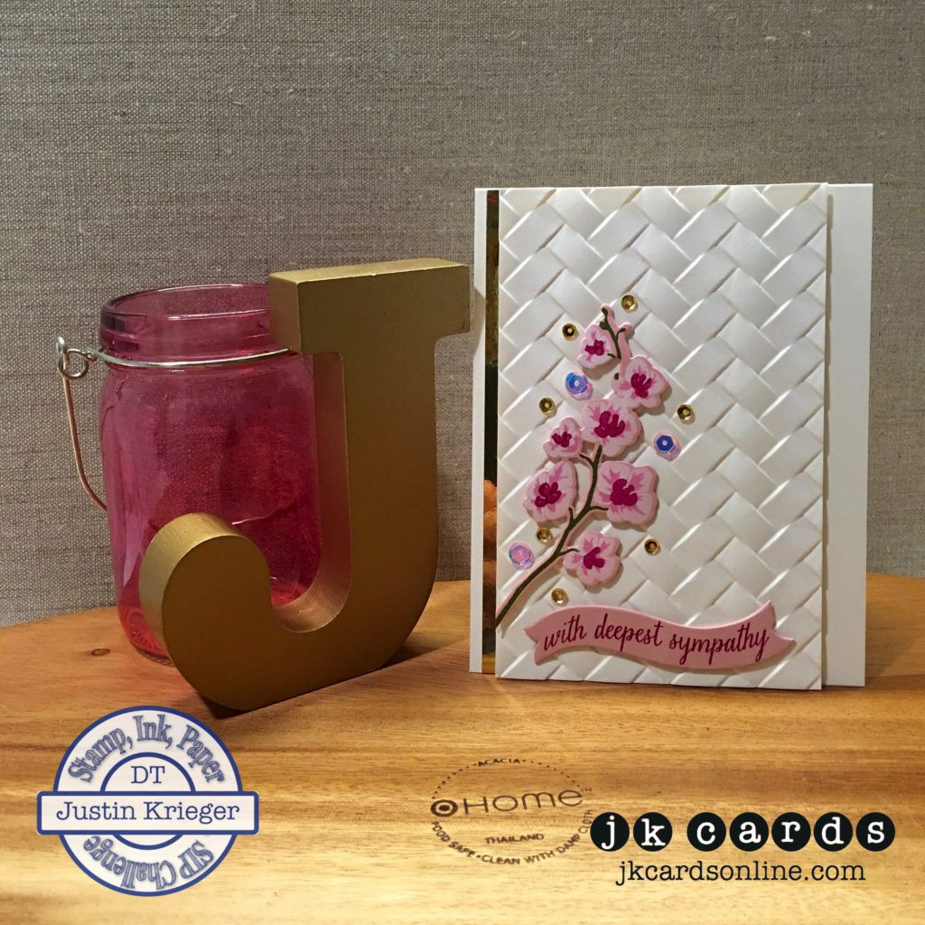 Gold color cardstock paper - Hero Arts Color Layering Orchid In A Pot And Coordinating Dies And