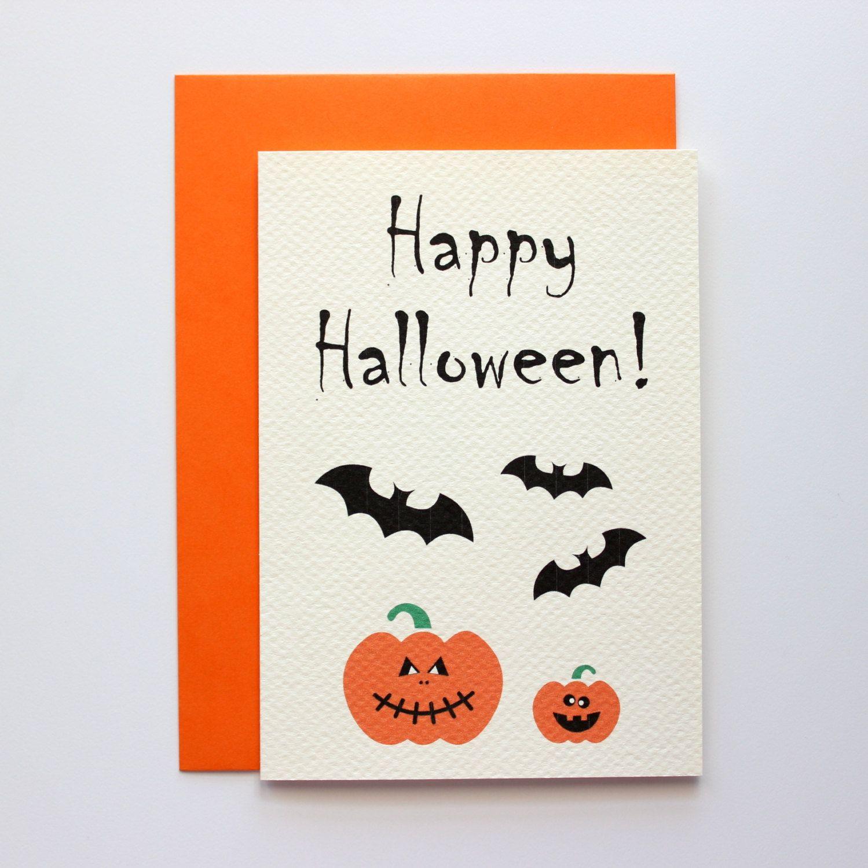 Happy halloween card pumpkin halloween card boo holiday cards items similar to happy halloween card pumpkin halloween card boo holiday cards funny halloween card seasonal cards halloween greeting cards on etsy m4hsunfo