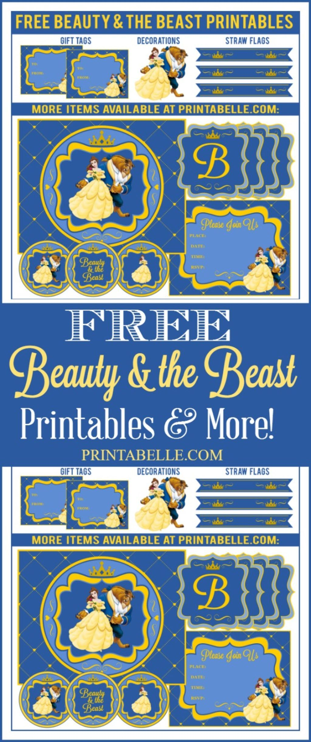 Beauty Amp The Beast Party Printables