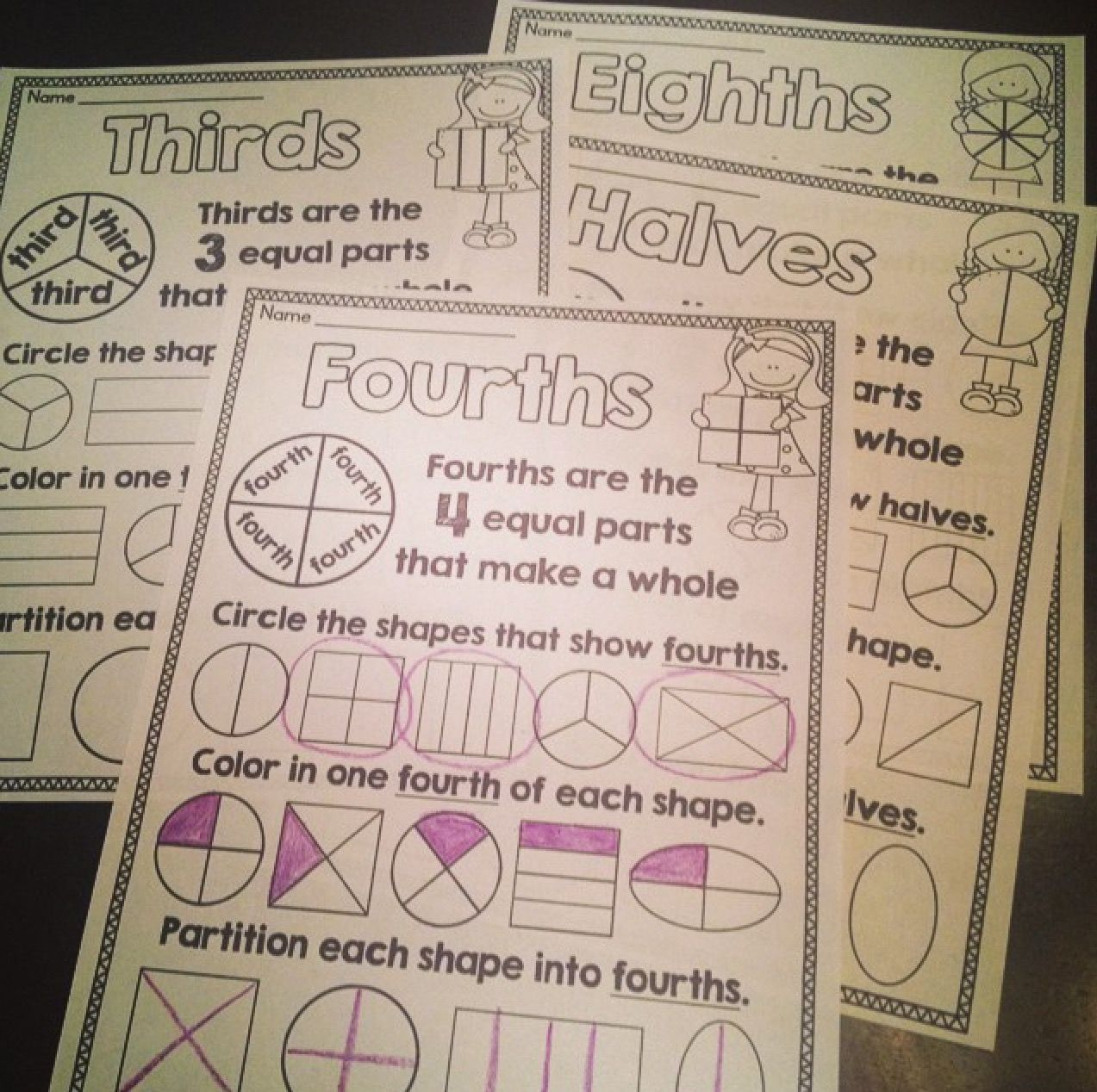 Pin By Shelby Pinkerton On Pre K Math Pi Day Fractions