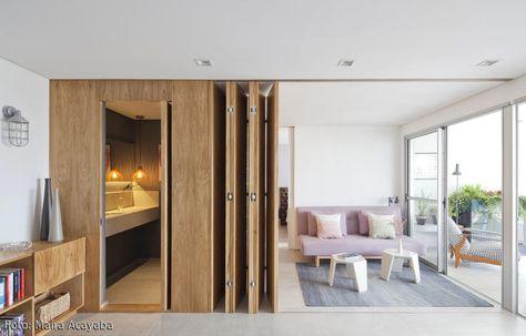 Mini Apartment Flexibleres Wohnen Dank Raumtrenner Studioappartement Dekoration Minimalistische Wohnung Architektur Haus Design