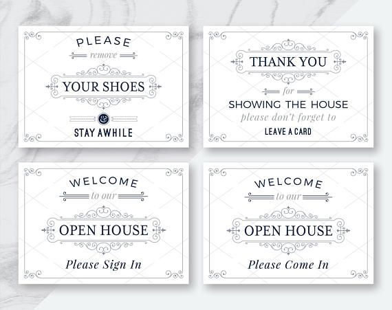 image regarding Welcome to Our Open House Printable named 12 Correct Estate Welcome towards Our Open up Area Printables, Welcome