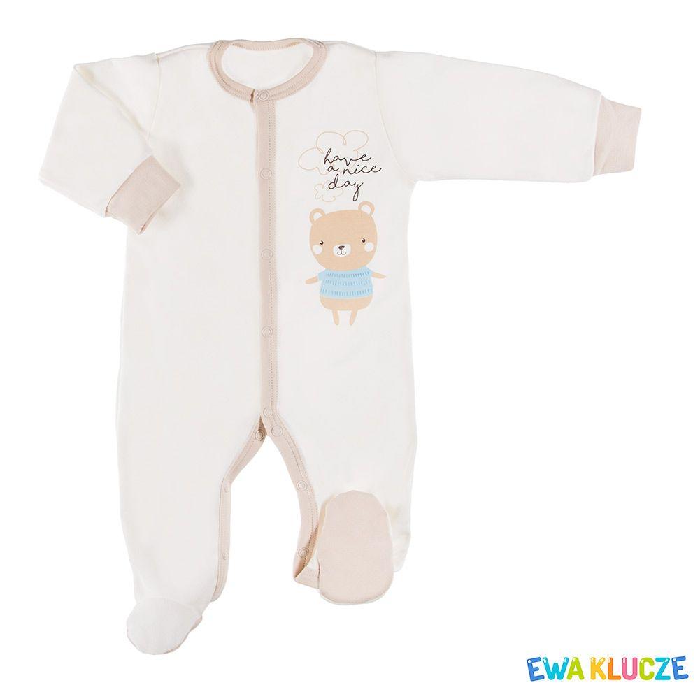 Ewa Klucze Kolekcja Fluffy Pajac Ecru Jesien Zima 2018 Ubranka Dla Dzieci Ewa Klucze Fluffy Collection Ecru Sleepsuit Baby Clot Baby Onesies Pajac Ecru