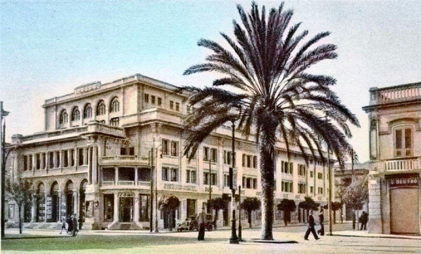 Il Cine-Teatro Impero, Alias Peloro, affacciato all'incrocio tra la Via Tommaso Cannizzaro e Via dei Mille a Messina in una immagine di fine anni '30