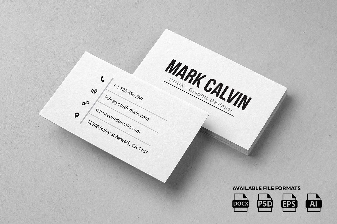 Fantastic Best Simple Business Card Designs Gallery - Business Card ...