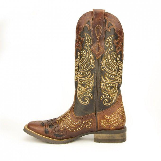 519a53e429836 Bota Goyazes F. 3226 CEF Atlanta Pinhão   Dallas Tabaco - Brasil Cowboy