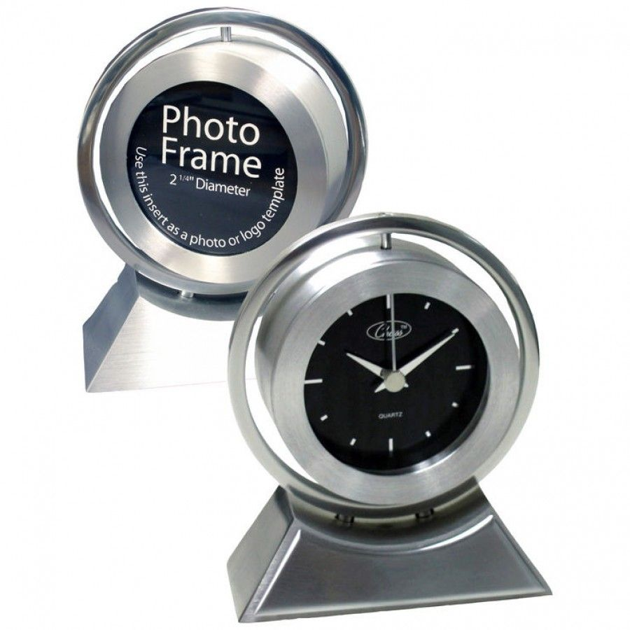 Chass Silver Onyx Clock - 80327