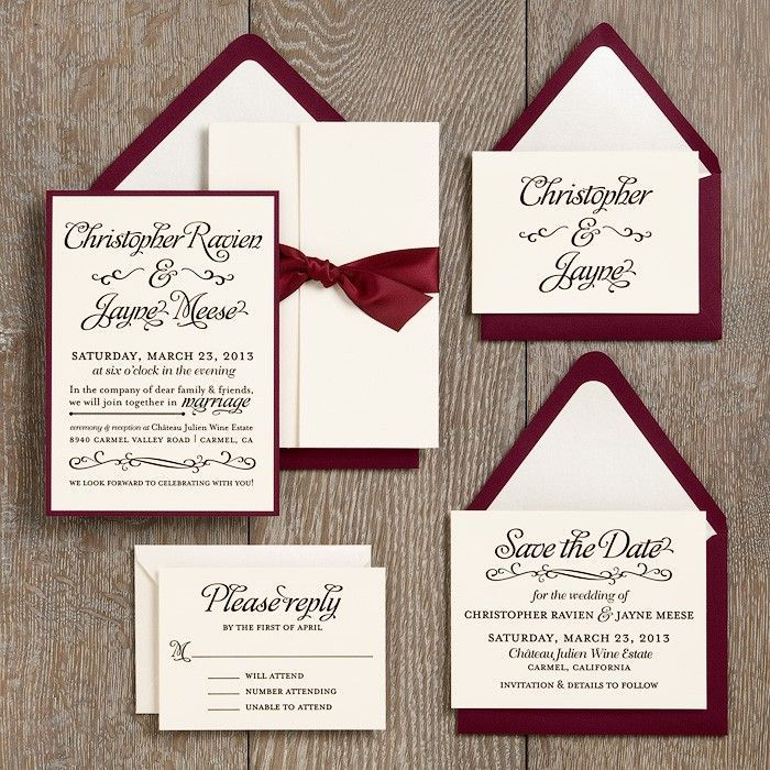 Wedding Invitation Ideas | Paper Source with fig and cream instead ...
