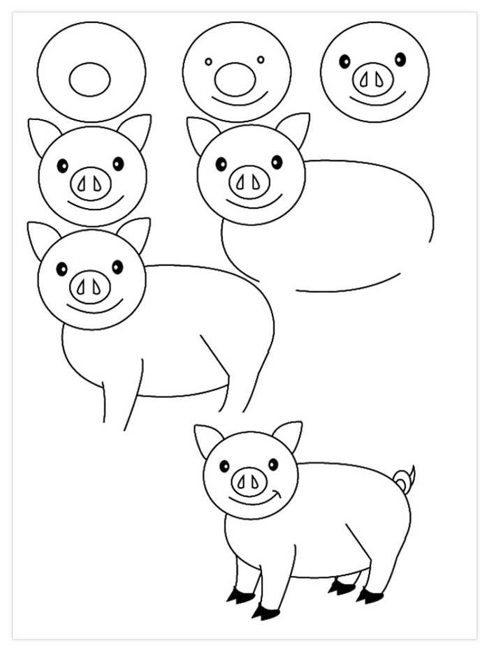15 Dibujos A Lápiz Que Son Muy Fáciles Para Dibujar Con Los Niños Easy Drawings Art Lessons Drawing Lessons